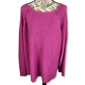 Caslon scoop neck pink pullover sweater